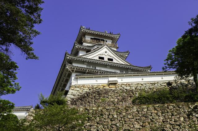 快晴の高知城