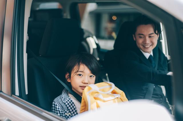 息子と車でおでかけ