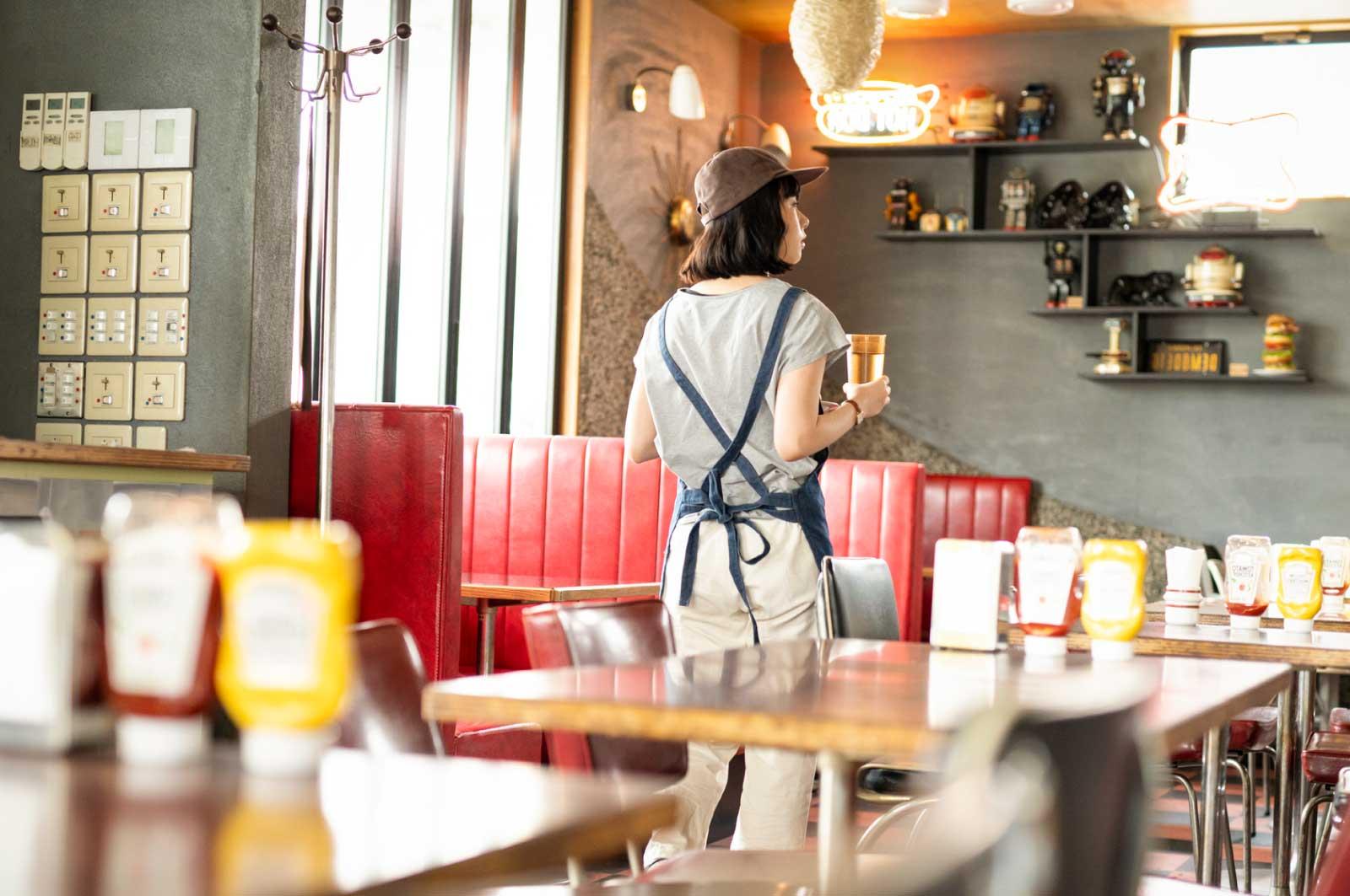 国分寺のハンバーガーショップ