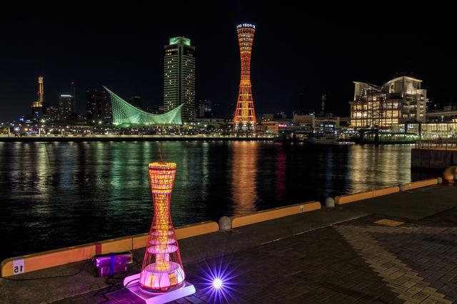 夜は光り輝く神戸の夜景を満喫