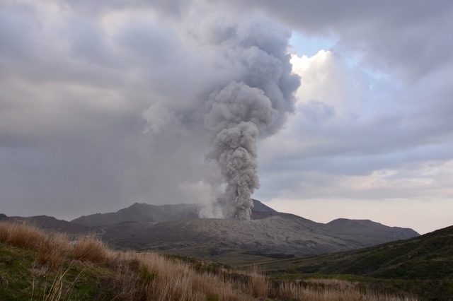阿蘇の噴火