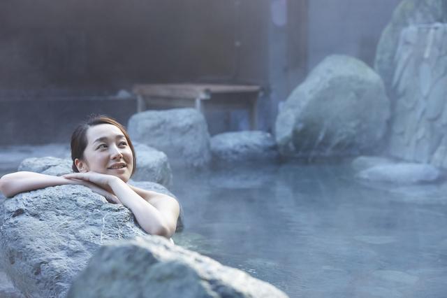 温泉好きの女性