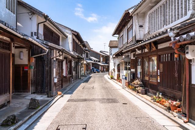 倉敷の歴史の残る街並み