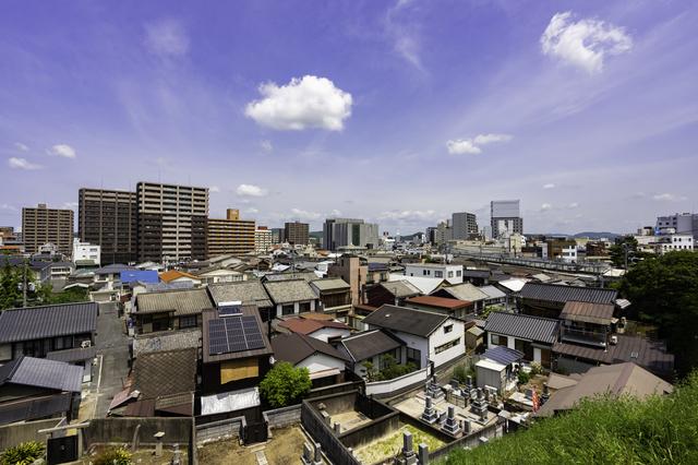 岡山県倉敷市の街並み