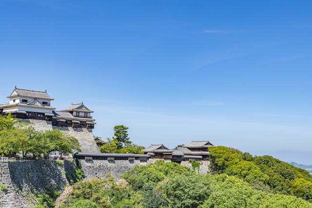 晴天の松山城