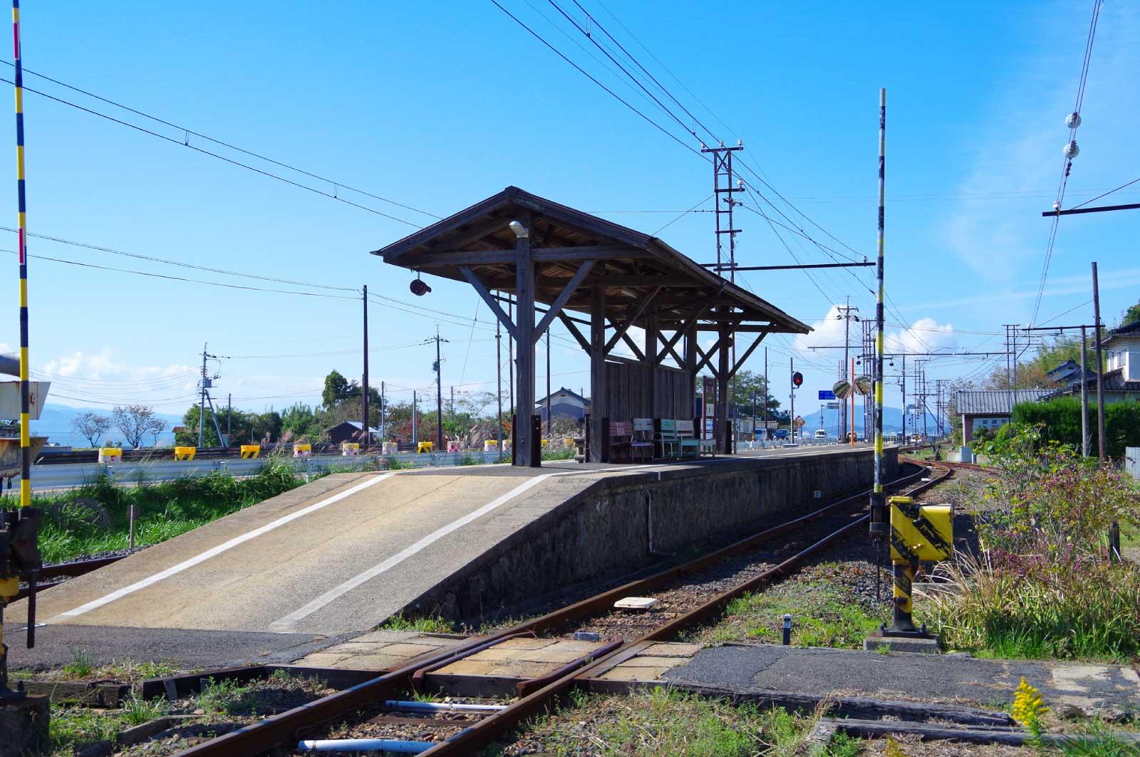 松江にあるレトロな駅
