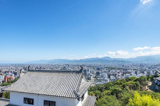 松山城から見下ろす市街地
