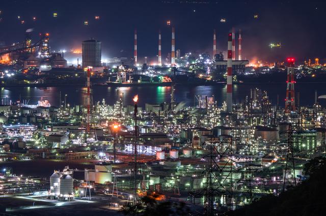 水島コンビナート(工場夜景)