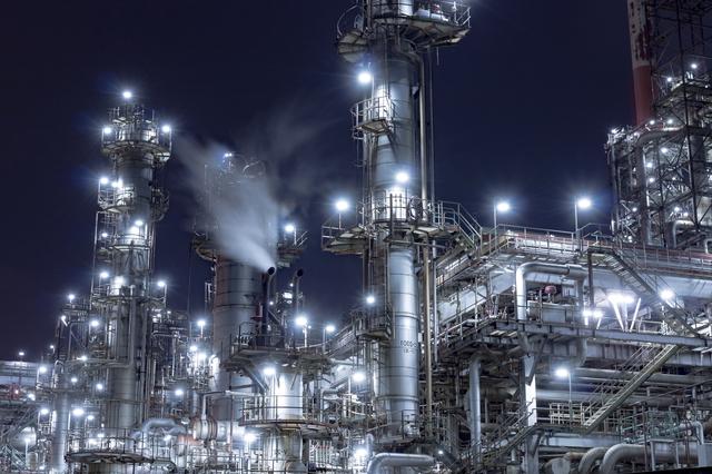 工場萌えする夜景