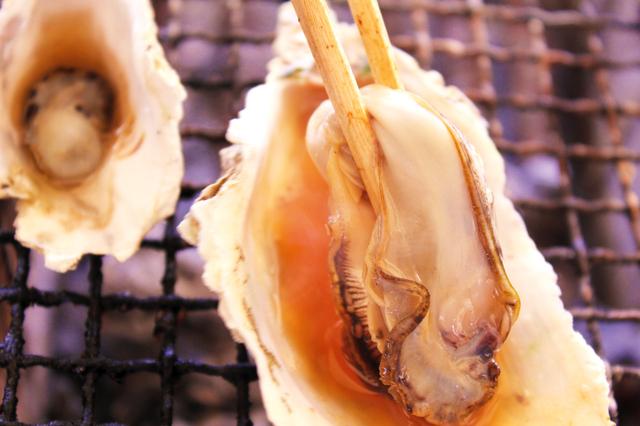 焼き牡蠣のポン酢がけ