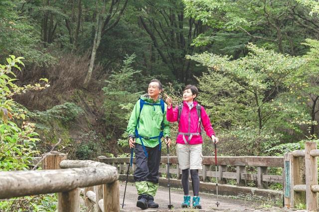 夫婦で山歩き