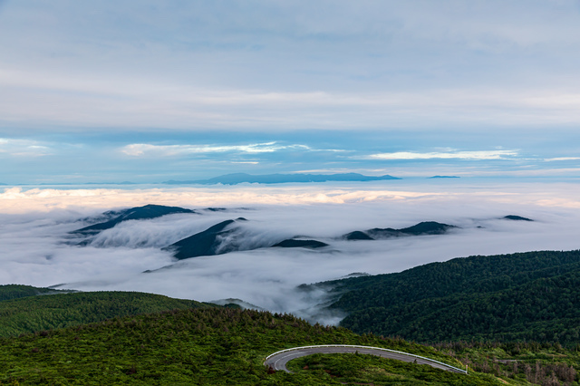 蔵王山と雲海