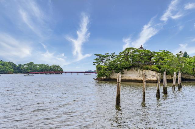 瑞巌寺五大堂と福浦橋(松島)