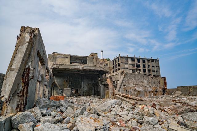 軍艦島の廃施設