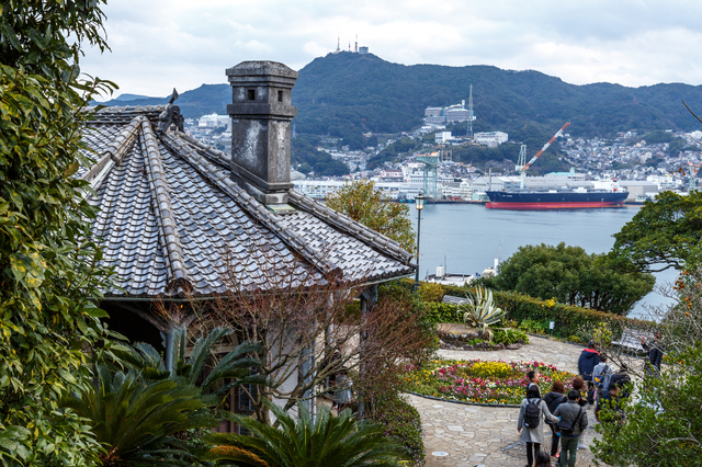 グラバー園から長崎を見下ろす