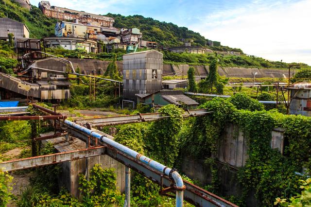 廃墟となった炭鉱跡