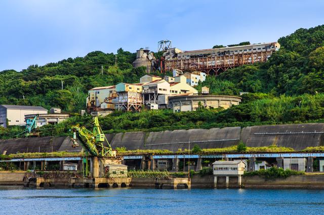 港と池島炭鉱跡