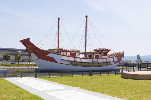 平城宮跡歴史公園にある遣唐使船