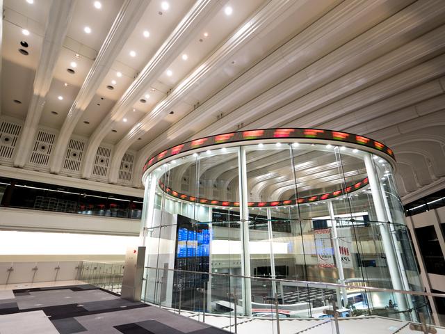 東京証券取引所内部