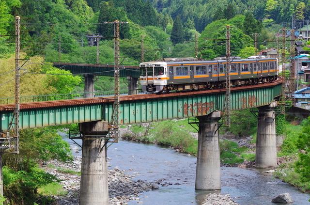 飯田線・渡らずの鉄橋