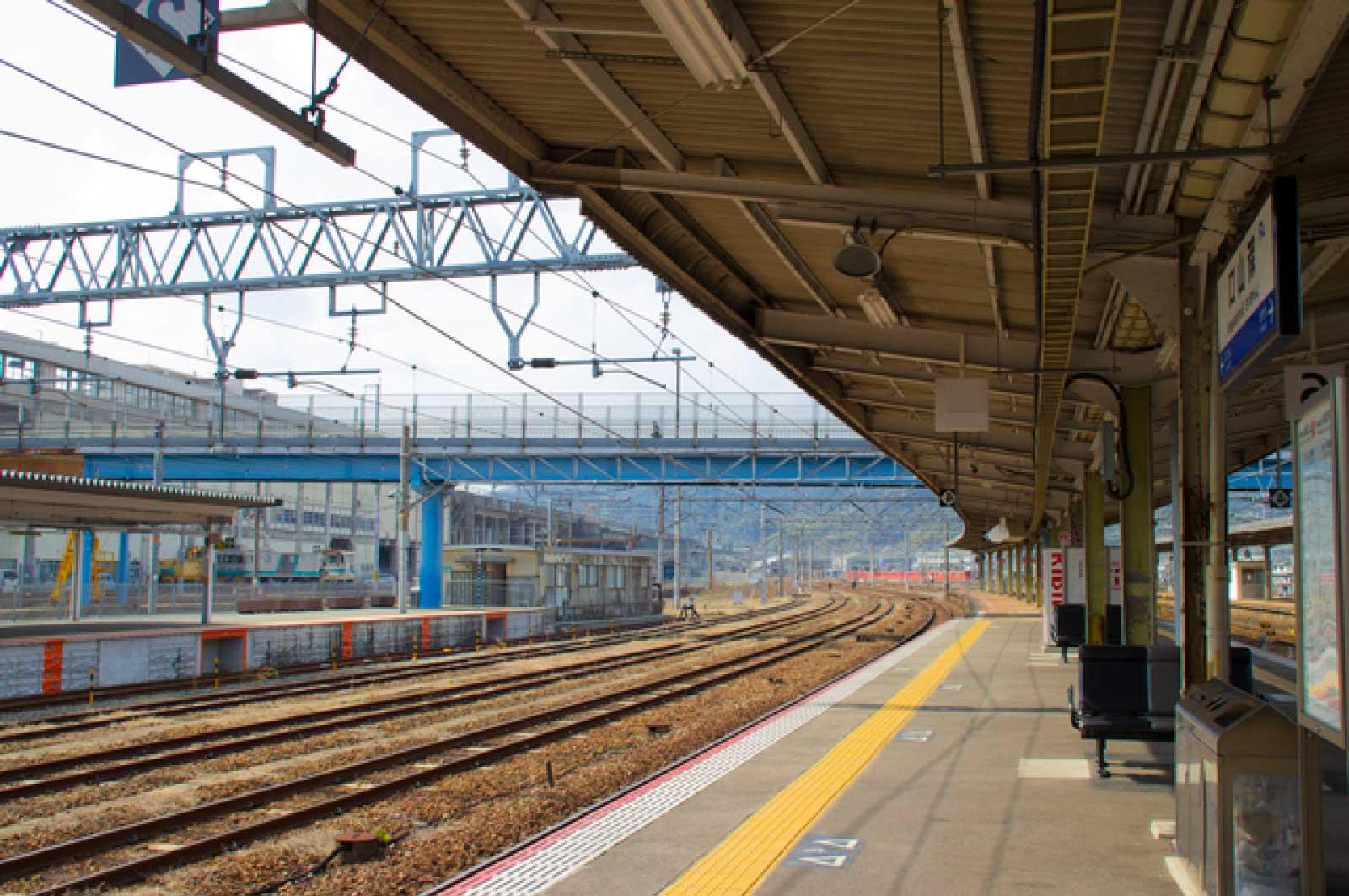 新山口駅ホーム