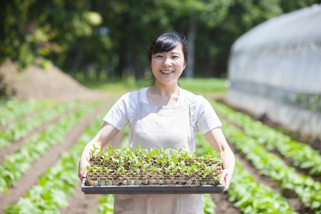 岡山の農家の女性