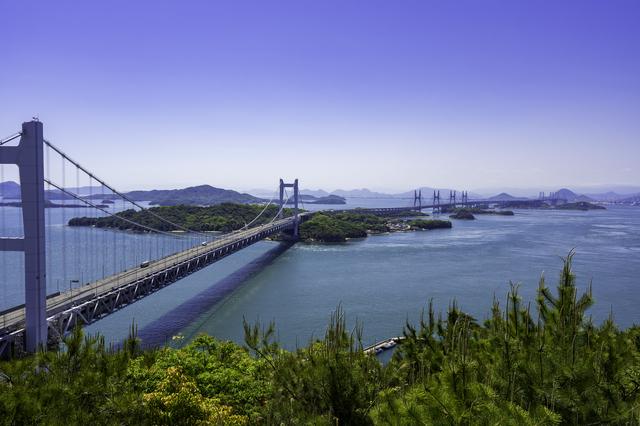 岡山を結ぶ瀬戸大橋