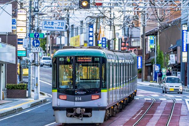 浜大津を走る京津線