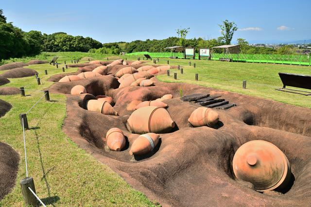 吉野ヶ里遺跡で発掘される土器
