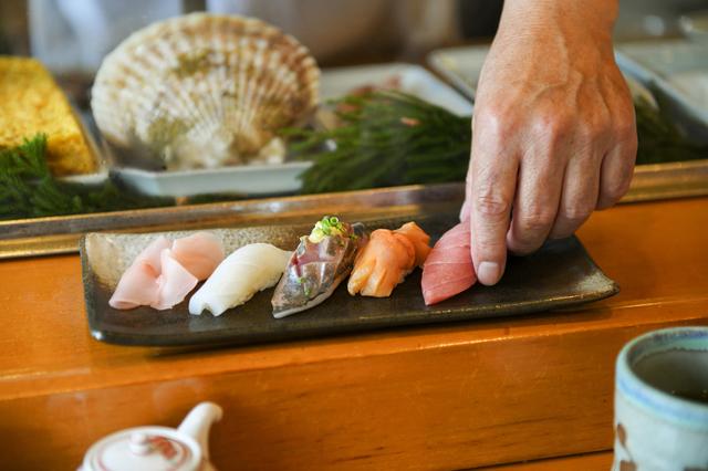 堺の寿司屋のにぎり