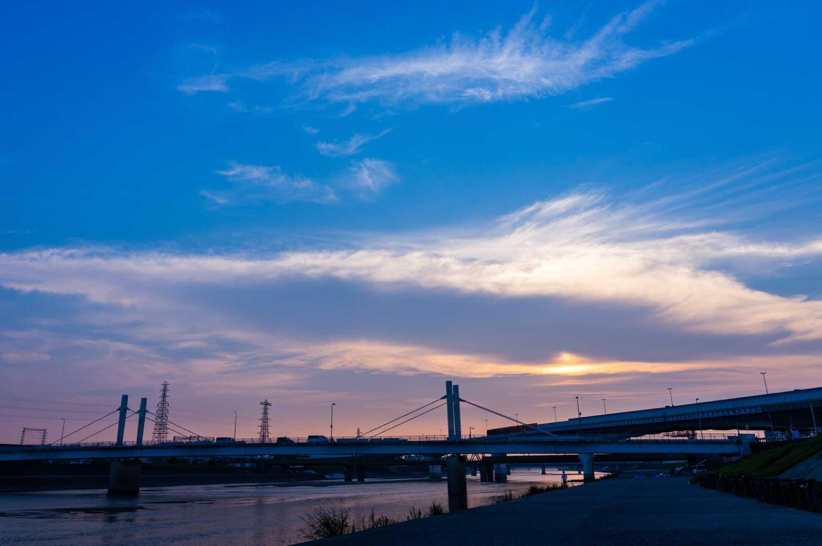 堺を流れる大和川