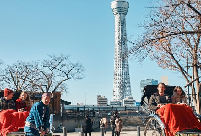 浅草の観光客