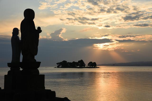 宍道湖(島根)の夕日