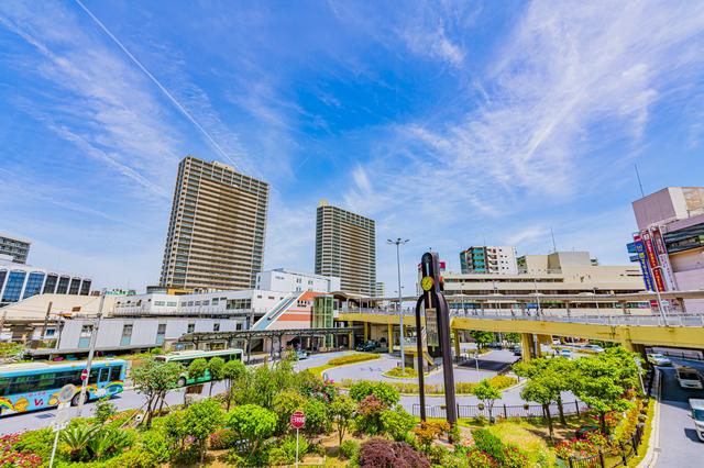 高槻駅前の風景