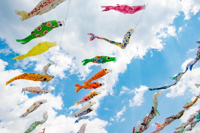 芥川桜堤公園の鯉のぼり