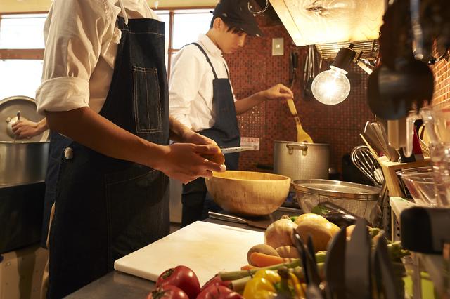 カフェのキッチン