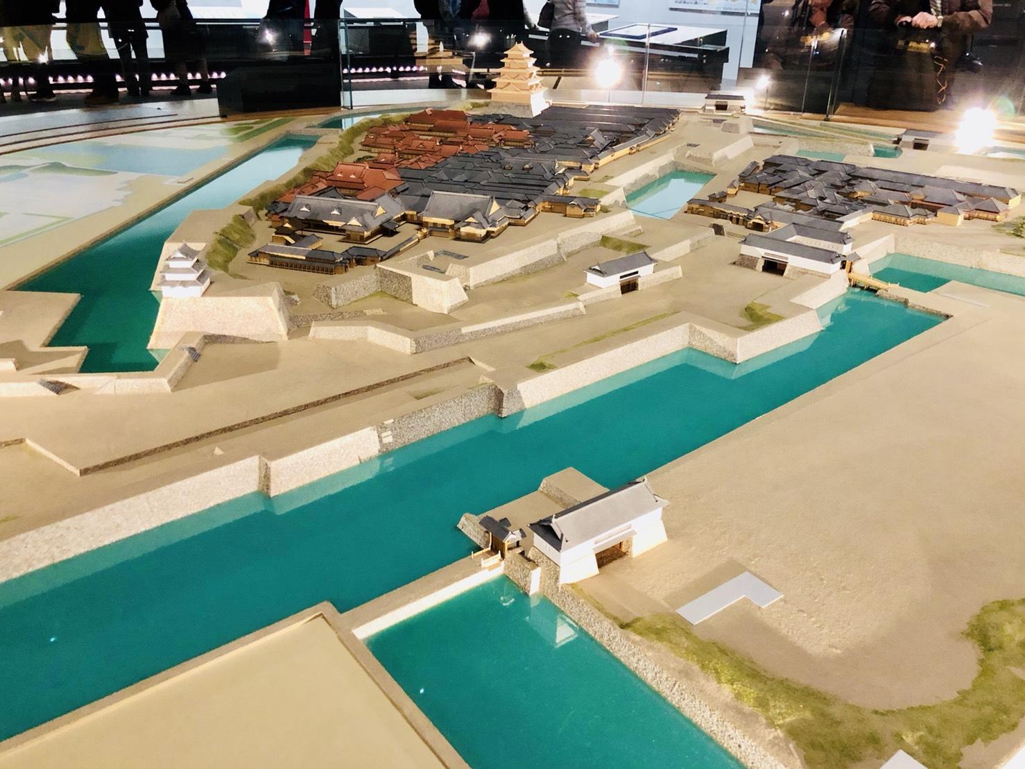 「江戸城」を再現した模型