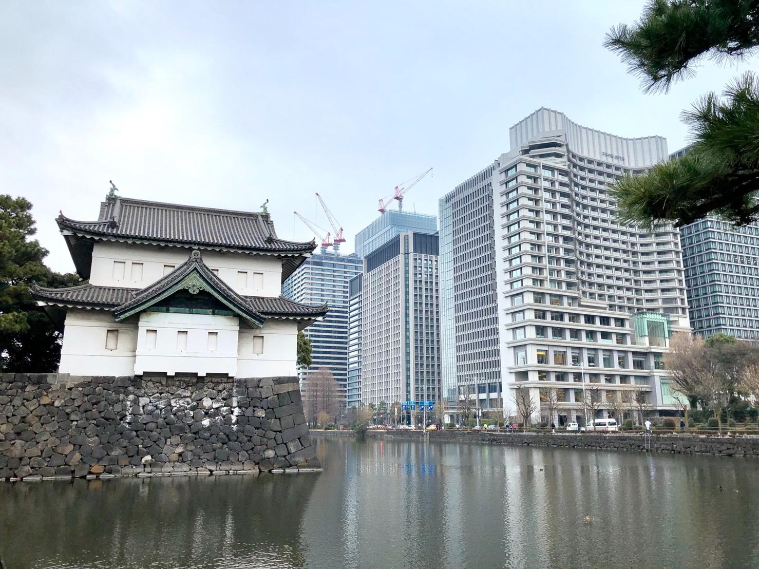 桜田二重櫓と高層ビル