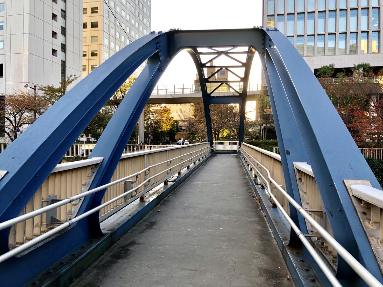 夏美先生がよく使う青い歩道橋
