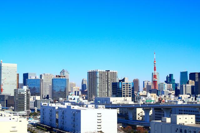 東京タワーとその周辺の景色