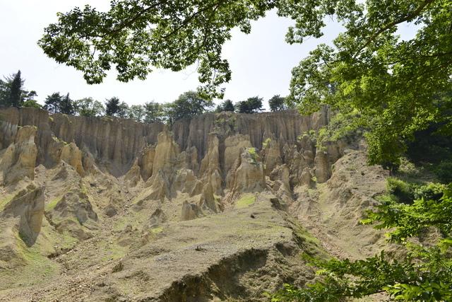 一見、岩に見える「阿波の土柱」