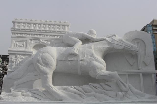 さっぽろ雪まつりの彫刻