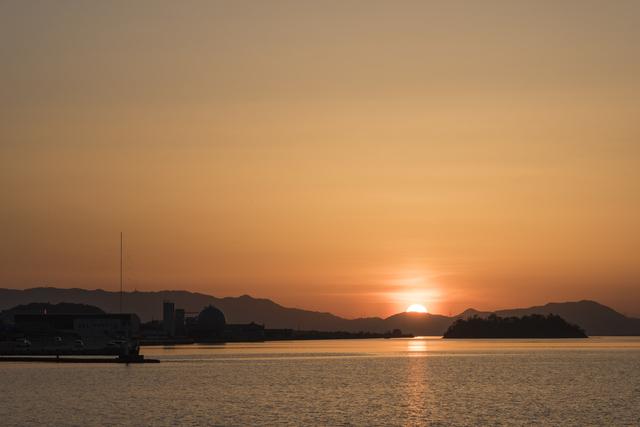 湊山公園の夕日