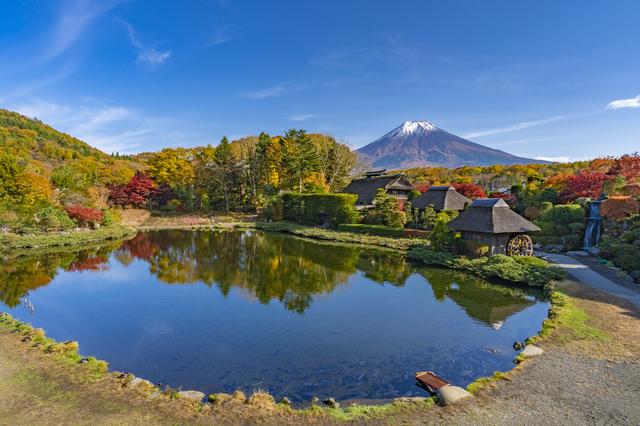 山梨・忍野八海と富士山