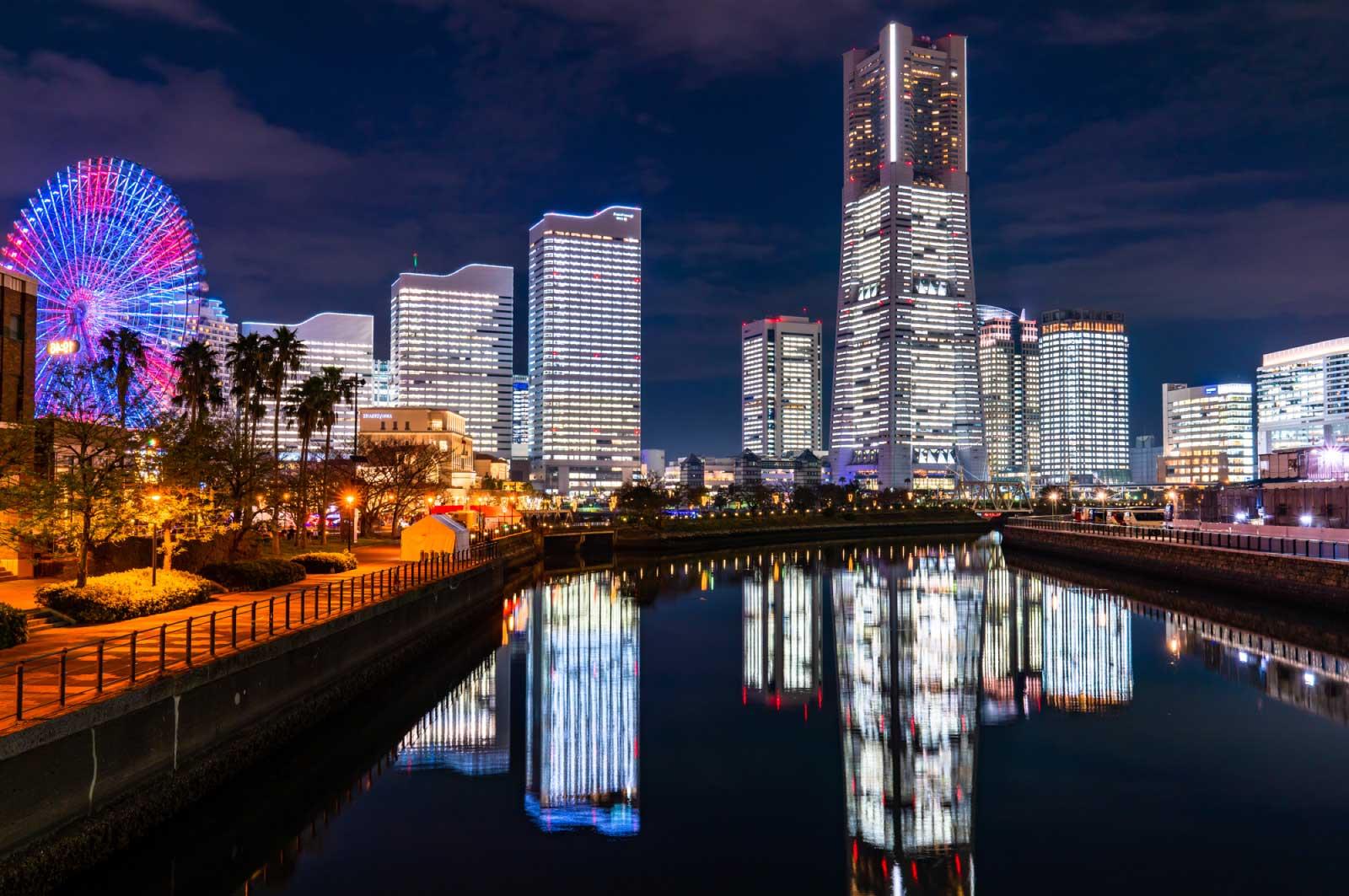 綺麗な横浜の夜景
