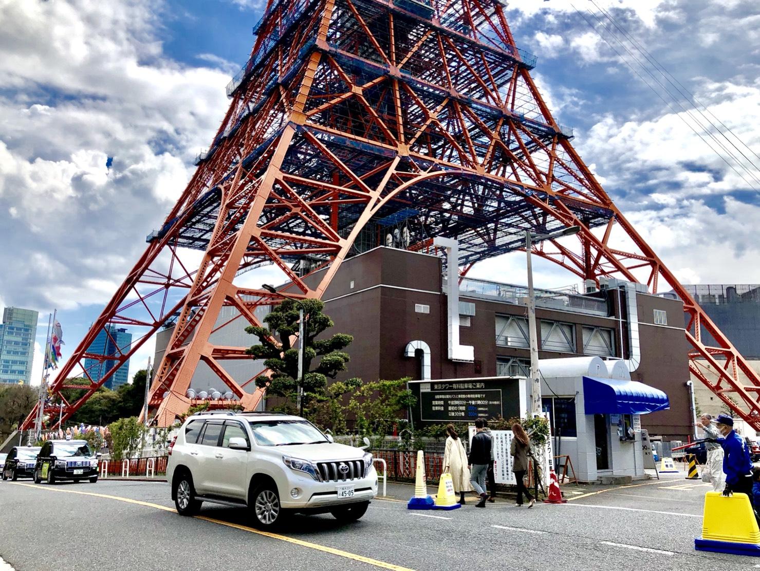 東京タワーの足元