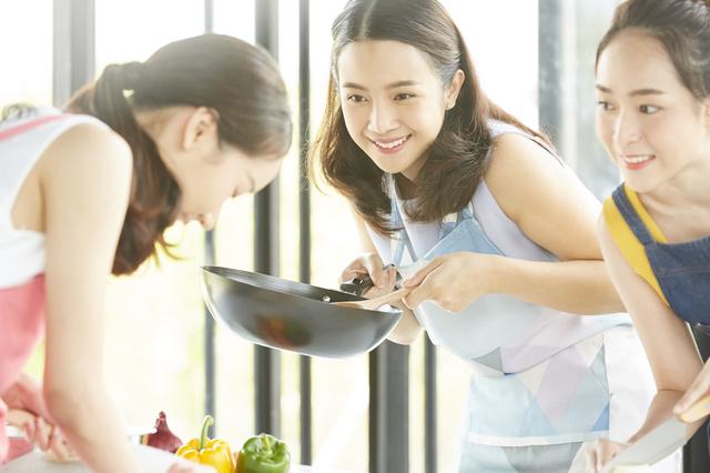 料理教室での会話