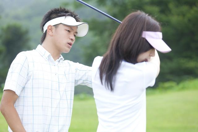 男女でゴルフ