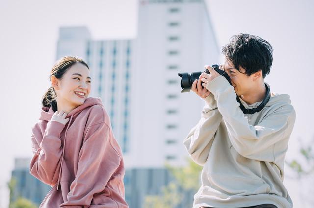 カメラが趣味のカップル