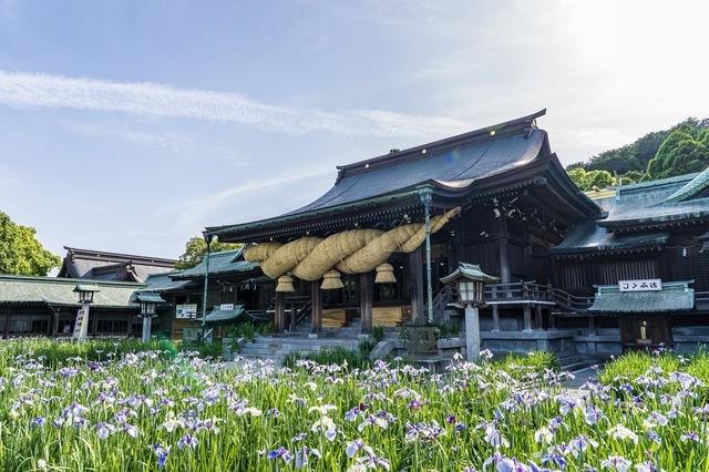 神社はまわりは自然に囲まれて
